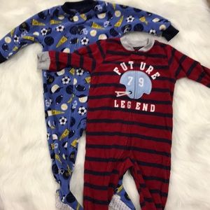 2 Pair Carter's Footed Pajamas